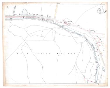 19231-17Y3 [Geen titel] Kaartblad van de Schipbeek ter hoogte van het huidige Bergweide. Vermeld worden: Douwler ...