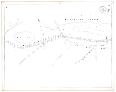 19231-17Y5 [Geen titel] Kaartblad van de Schipbeek ten zuiden van Deventer en Colmschate. Vermeld worden: Sworminks ...