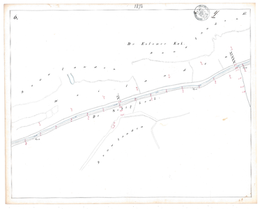 19231-17Y6 [Geen titel] Kaartblad van de Schipbeek ten zuidoosten van Deventer en Colmschate. Vermeld: Essener enk ...