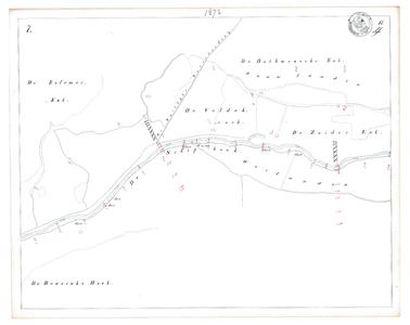 19231-17Y7 [Geen titel] Kaartblad van de Schipbeek ten westen van Bathmen. Op de kaart worden vermeld: Essenerenk ...
