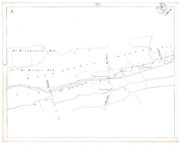 19231-17Y8 [Geen titel] Kaartblad van de Schipbeek ten zuiden van Bathmen. Op de kaart worden vermeld: Weg van Zutphen ...