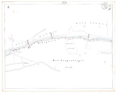 19231-17Y9 [Geen titel] Kaartblad van de Schipbeek ten oosten van Bathmen met veervonder. Vermeld wordt ...