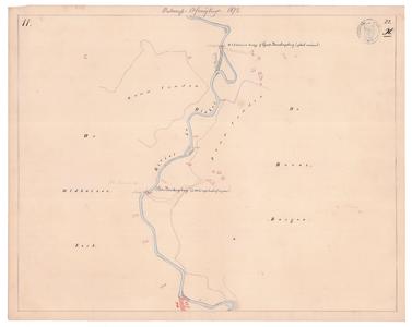 19231-22X11 [Geen titel] Kaartblad van de Dinkel, ter hoogte van het Lutterzand, ten zuiden van het huidige ...