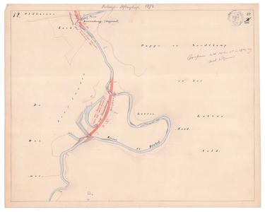 19231-22X12 [Geen titel] Kaartblad van de Dinkel ter hoogte van de grote meander bij het Lutterzand, ten noordwesten ...