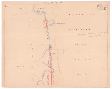 19231-22X13 [Geen titel] Kaartblad van de Dinkel ten noorden van de huidige A1, en ten oosten van De Lutte. Met een ...