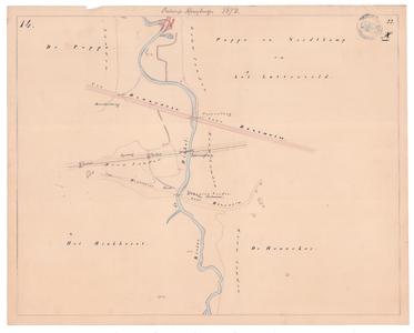 19231-22X14 [Geen titel] Kaartblad van de Dinkel ten oosten van De Lutte, ter hoogte van de huidige snelweg (A2) en de ...