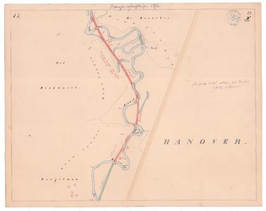 19231-22X15 [Geen titel] Kaartblad van de Dinkel ten zuidoosten van De Lutte, tot boerderij Binkhorst, met sinds 1847 ...