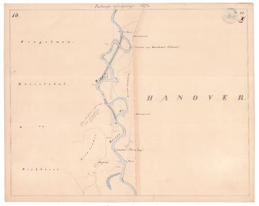 19231-22X16 [Geen titel] Kaartblad van de Dinkel ten westen van Bentheim, tussen de Lutte en Losser, met in groen sinds ...