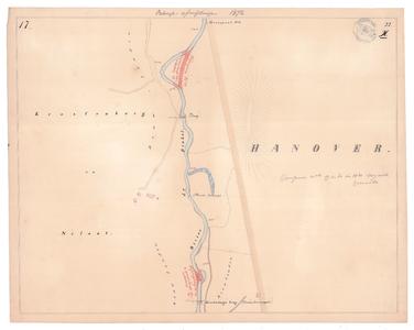 19231-22X17 [Geen titel] Kaartblad van de Dinkel, ten noordoosten van Losser, Krassenberg's brug (ten noorden van ...