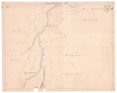 19231-22X21 [Geen titel] Kaartblad van de Dinkel ten westen van de Overdinkel en ten noorden van Glane. Vermeld worden: ...