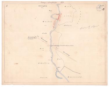 19231-22X5 [Geen titel] Kaart van de Dinkel, tussen Tilligte en het Harseveld bij Denekamp. Aan de westzijde: Oude ...