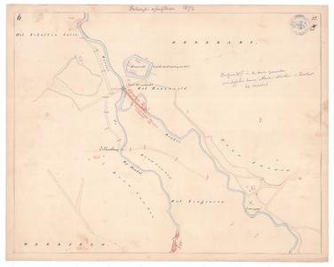 19231-22X6 [Geen titel] Kaart van de Dinkel en de Bijdinkel, ten westen van Denekamp, en ter hoogte van het huidige ...