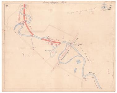 19231-22X8 [Geen titel] Kaartblad van de Dinkel, tussen Denekamp en Beuningen. Vermeld worden: de weg van Oldenzaal ...