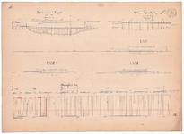 19231-V16 [Geen titel] Lengte- en dwarsdoorsneden van de Regge ten noorden van Enter, vanaf de Entergraven tot de ...