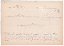 19231-V7 [Geen titel] Lengte- en dwarsdoorsneden van de Regge bij Hankate en Egede (Overijssels) kanaal., 1870