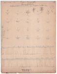 19231-z.d Lengte en dwarsprofillen van de Beerser waterleiding. Metingen van 1871 Lengte- en dwarsdoorsneden van de ...