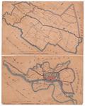 19224-4 4 en 12 Bathmen [en] Deventer Twee kaartbladen op een vel. Boven: de gemeente Bathmen met rondom de gemeenten ...