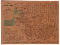 1939 KAART van de provincie OVERIJSEL | met afstandswijzer en plaatsbepaler, naar de beste bronnen vervaardigd | door | ...