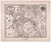 870 TRANSISELANIA | DOMINVM | vernacluè | OVER-YSSEL. 1 kaart. Ongekleurd. Kopie van de kaart van Blaeu van 1638, ...