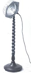 10443 FDHEEMAF002187 Straalkachel Glittering Glow op hoge en gekrulde houten voet