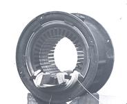 13731 FDHEEMAF020345 Diverse stadia tijdens het wikkelen van de stator van motor van het type NK 4. Inleggen tweede ...