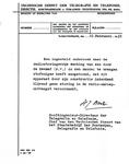 13800 FDHEEMAF021489 Mededeling van PTT Den Haag dat de HEEMAF stofzuiger inderdaad niet stoort op de radio, 1938-03-01