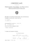 13811 FDHEEMAF021501 Certificaat van de Nederlandsche Vereeniging van Huisvrouwen voor de HEEMAF stofzuiger, 1938-07-26