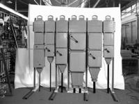 23274 FDHEEMAF063793 Kastenbatterij met nieuw aanpassingssysteem, bestemd voor presentatie op de Jaarbeurs in Utrecht, ...