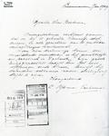 4524 FDHEEMAF054481 Reproductie van een brief van C. IJtsma in Leeuwarden met een tevredenheidbetuiging over de goede ...