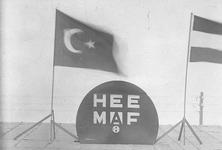 5912 FDHEEMAF033233 Vier foto's van HEEMAF stand op een tentoonstelling in Turkije, 1934-11-01