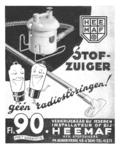 593 FDHEEMAF053677 Reclameplaat stofzuigers, 1937-10-20