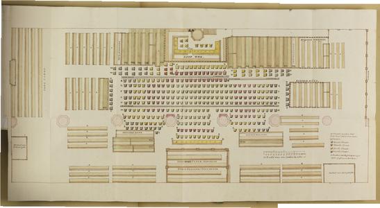 10554-KD000054 [Zonder titel]Plattegrond van de Broerenkerk te Zwolle met nummers van de verhuurde zitplaatsen. Van ...
