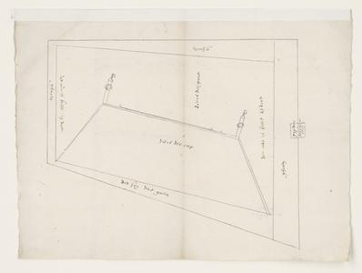 1243-KD000024 [Zonder titel]Schetstekening door Jan Berentsz van boven- en zijaanzicht voor een ontwerp van de opstand ...