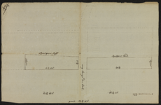 12441-KD000249 Vermeld op achterkant: Aftekeninge van het verbuite en afgegravene land te Wyten usschen de hr van ...