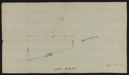 12441-KD000251 [Zonder titel]Schetskaart van een stuk grond in het Wythemer Veld (Het Veld) gelegen naast een erve van ...