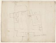 12461-KD000096 [Zonder titel]Plattegrond van de gebouwen van het voormalig klooster Betlehem tussen de Schoutenstraat, ...