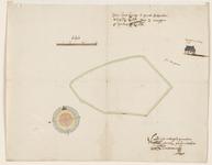 12556-KD000273 [Dorsaal:] Aftekening van den Hartkamp in het VollenhoofsePlattegrond van een stuk weiland, de Hartkamp ...