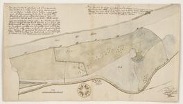 12495-KD000199 [Met omschrijving]Kaart door Herman Lentinck van de Herkulosche Buitenlanden (Harculose)aan de IJssel ...