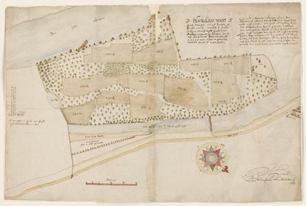 12495-KD000200 [Met omschrijving]Kaart van de Harculoërwaard door Herman Lentinck van de Weerden bij de buurschap ...