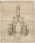 1252-KD000110 [Zonder titel]Ontwerptekening voor een allegorisch beeldhouwwerk in de raadkamer van het stadhuis op het ...