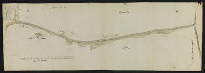 12638-KD000264 [Zonder titel]Kaart van de Groote Grift vanaf de Steenwetering tot aan de Hasselterdijk bij het Zwarte ...