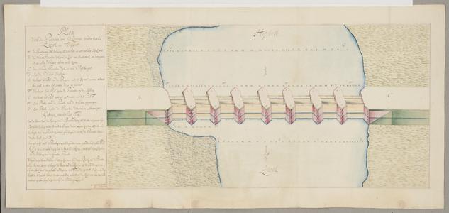 1283-KD000194 Plan van de Pinanten an het Swarte Water tuschen Zwol en HasseltOntwerp door J. J. de Cleshem van de ...