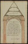 1321-KD000033 [Zonder titel]Tekening door Herman van Ryssen (Rijssen) van de doorsnede van het schip van de Kruis- of ...