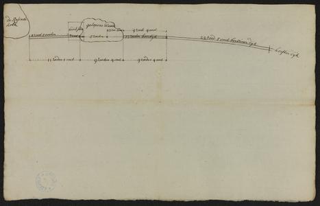 1386-KD000176 CaartjenSchetskaart van het herstel van de wade in de Oitendijk in de rivier de Vecht bij het Razende gat ...