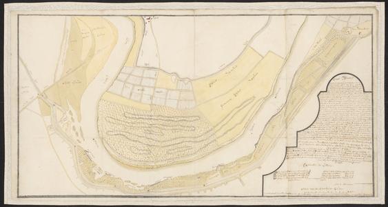 1388-KD000280 Caart figuratieffKaart van de doorgebroken IJsseldijk bij Veekaten, vervaardigd door A.J. Knollaert en ...
