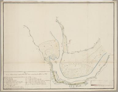 1397-KD000278 Plan van de Nieuwe Inlaags en oplaags Dijk beide 1754 aangeleeget tegen de revier den IJsselKaart van de ...