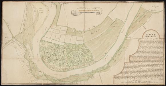 1397-KD000279 Caart figuratiefEen kaart door A.J. Knollaert die de situatie weergeeft van de doorgebroken IJsseldijk ...