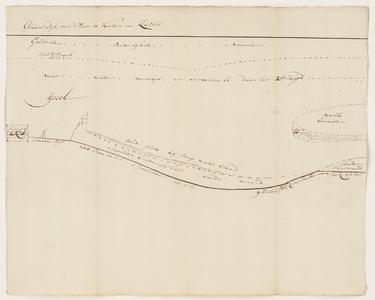 1401-KD000234 Gelders Dijk van 't Veen te Katen na ZallikSchetskaart van de IJssel, gemaakt door door G. Hackfoort en ...