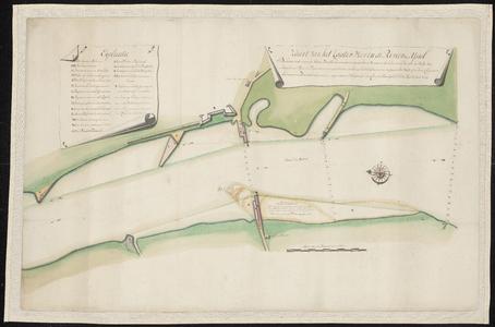 1402-KD000241 Kaart van het Kaaterveer in de river den IJsselKaart betreffende herstel Katerveer, met door Cornelis ...