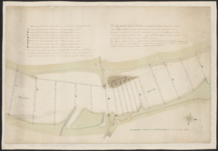 1403-KD000243 De kaart verbeeld eenig gedeelte van de rivier den IJssel beneden en boven de Katerschans omtrent ter ...